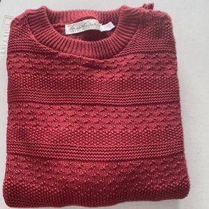 Gloria Vanderbilt Cotton Brick Red Sweater - Sz M